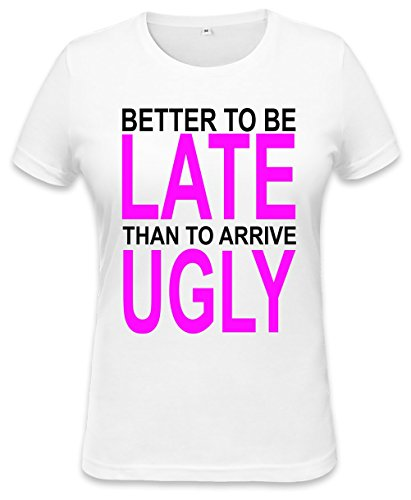 better-to-be-late-slogan-womens-t-shirt-xx-large