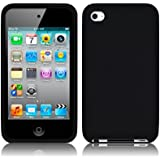 APPLE IPOD TOUCH 4TH GENERATION SOFT SILICONE SKIN CASE - BLACK [Electronics]