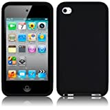 APPLE IPOD TOUCH 4TH GENERATION SOFT SILICONE SKIN CASE - BLACK PART OF THE QUBITS ACCESSORIES RANGEby TERRAPIN