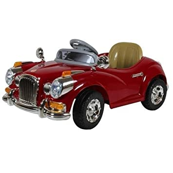 happy kids classic vintage ride on car with remote control red