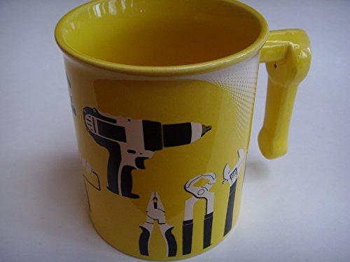 menards-diy-coffee-tea-mug-cup-4-yellow-porcelain-collectible