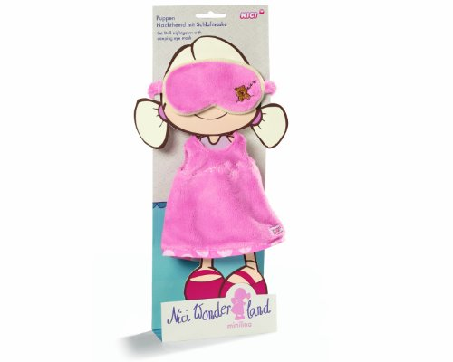 Neat-Oh Nici Wonderland Nightgown with Sleeping Eye Mask for Doll Minilina 30cm