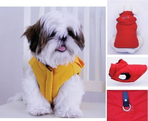 Gooby Wind Parka For Dogs, X-Small, Yellow