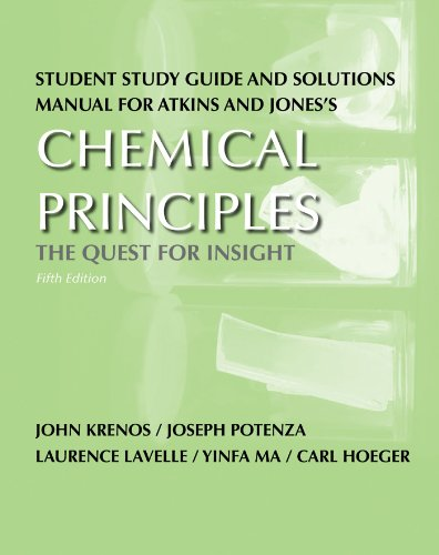 Student Study Guide and Solutions Manual for Chemical...