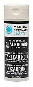 Martha Stewart 32217 6-Ounce Chalkboard Paint, Black