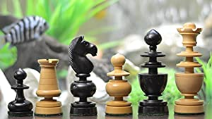 Chessbazaar Reproduced Antique Series Regence Chess Pieces In Stained Black Box Wood