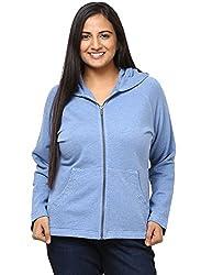 GRAIN Sky Blue Color Regular fit Cotton Jackets for Women