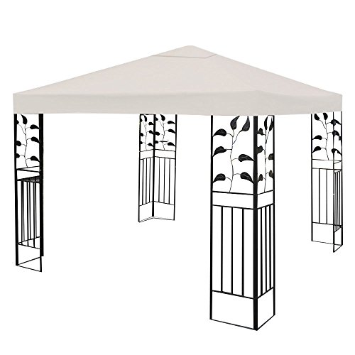 10 39 x 10 39 gazebo top cover patio canopy replacement 1 tier for Garage opel orleans