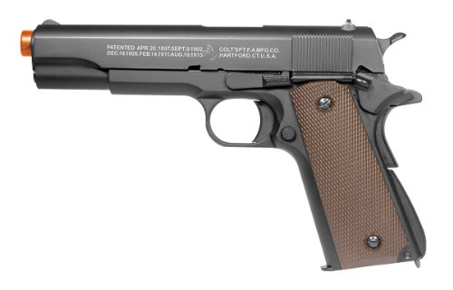 Colt SoftAir 1911 Gas Powered Pistol, Black/Brown