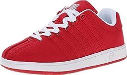 K-Swiss Classic Vintage Textile PS Tennis Shoe (Little Kid),Red/White,11 M US Little Kid
