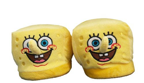 Cheap Spongebob Squarepants Face Cartoon Adult Plush Mens Slippers (ETSB7007)