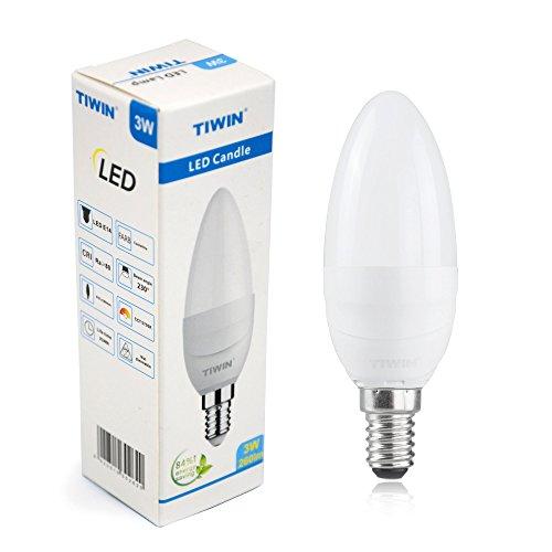 NEUE Generation TIWIN® 3W E14 LED Kerze Lampe Strahler KALTWEISS A+ /ersetzt ca. 25W /260 Lumen /5700K /230 Grad /SMD 2835