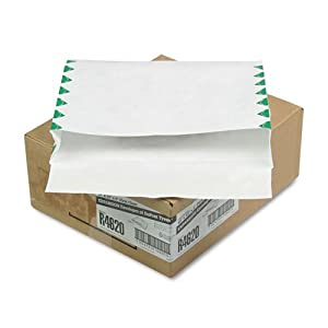Quality ParkTM Tyvek Booklet Expansion Mailer, First Class, 10 x 13 x 2, White, 100/carton