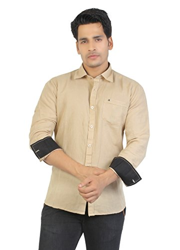 Aliep Aliep Smart Khakhi Linen\/Cotton Full Sleeves Shirt For Men | ALP3042 (Multicolor)