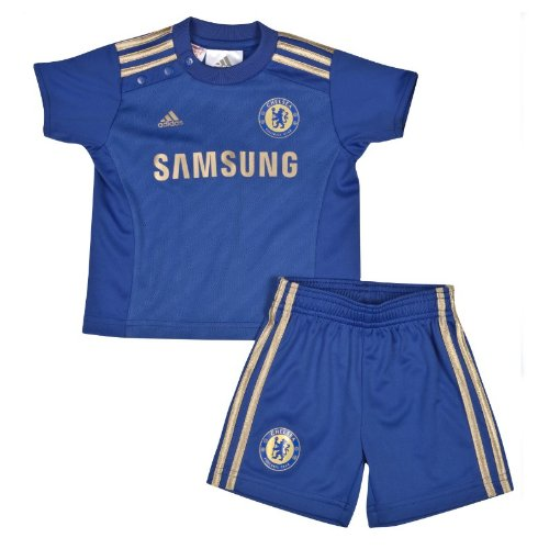 ADIDAS CHELSEA BABY TODDLER KIDS MINI KIT 2012/2013 12/13 FOOTBALL SHIRT, SHORTS & SOCKS (12-18 Months)