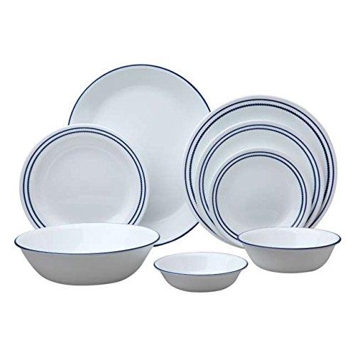 Corelle Livingware 76-Piece Dinnerware Set, Breathtaking Blue Beads front-86059