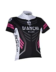 Bianchi Womens Navia Short Sleeve Jersey - Black/Pink - S