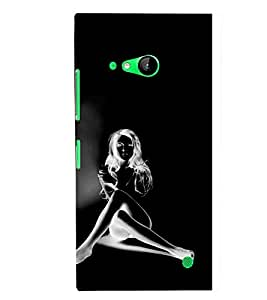 TOUCHNER (TN) Shadow Girl Back Case Cover for Nokia Lumia 730::Microsoft Lumia 730::Microsoft Lumia 735
