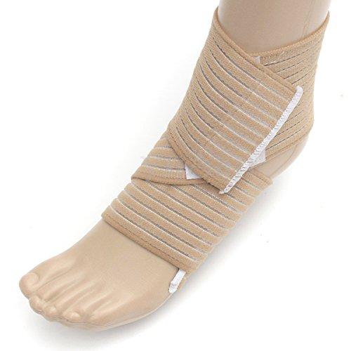 king-of-flash-elasticated-compression-pain-relief-ankle-support-beige-bandage-brace-wrap-sleeve-adju