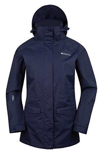 Mountain Warehouse Glacier Extreme Lange wasserdichte Damenjacke mantel allwetter Marineblau DE 46 (EU 48)