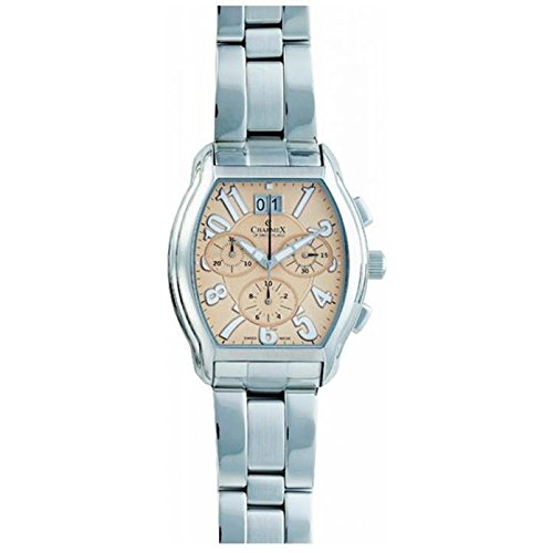 Charmex Ermitage 1718 37x36mm Silver Steel Bracelet & Case Synthetic Sapphire Men's Watch