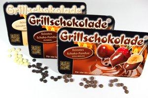 Grillschokolade 10er MIX Pack 250g, 4 x Vollmilch, 4 x dunkel und 2 x weiss BBQ Schoko-Fondue günstig