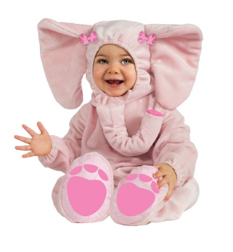 Rubie's Costume Cuddly Jungle Ella-Fun Pink Elephant Romper Costume, Pink, 6-12 Months