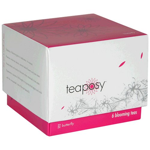 Buy Teaposy Blooming Tea Bulbs, Butterfly, 6-Count Boxes (Pack of 2) (Teaposy, Health & Personal Care, Products, Food & Snacks, Beverages, Tea, White Teas)