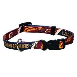 NBA Cleveland Cavaliers Adjustable Pet Collar, Team Color, Large
