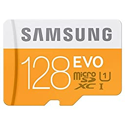 Samsung 128GB EVO Micro SDXC UHS-1 Card (MB-MP128DA) Up to 48MB/s. Ultra-Fast Performance For Improved Data Transfer, more Photos and videos. Ideal Choices for Smartphones and Tablets.