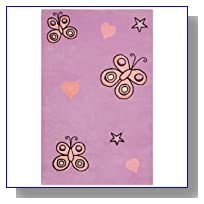 Playful Butterfly Kisses Kids Rug Size: 4' x 6'