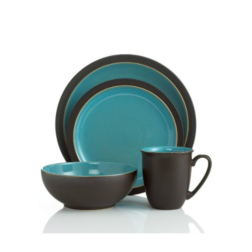 Denby Duets Brown & Turquoise 4-piece Place Setting