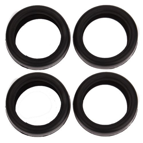 DN 1/10 RC Car Rubber Slick Tires 63mm X 26mm for Wheel 65mm OD (Pack of 4) - 1