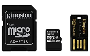 Kingston Digital Mobility Kit Includes 32 GB Flash Memory Card Reader (MBLY10G2/32GB)