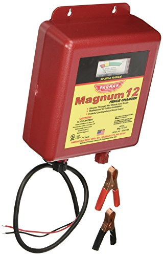Parmak MAG12-UO 12-Volt Magnum Low Impedance Battery Operated 30-Mile Range Electric Fence Charger (Battery Electric Fence compare prices)