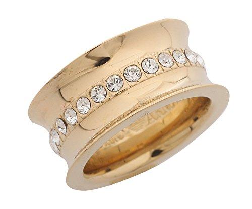 Emporio Armani-Anello da donna oro eg2309, argento, 52 (16.6), colore: oro, cod. EG2309