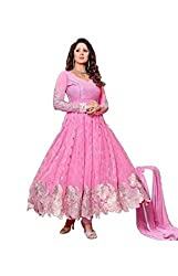 pink kudi in new way with new style Dress Material