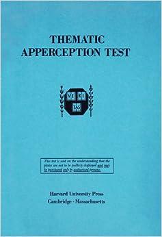 Amazon.com: Thematic Apperception Test (9780674877207