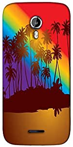 Snoogg tropical sunset Designer Protective Back Case Cover For Micromax A117