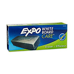 EXPO Dry Erase Board Eraser, Soft Pile, 5 1/8 Width x 1 1/4 Height (81505)