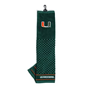 Buy Miami Hurricanes Embroidered Towel from Team Golf by Team Golf