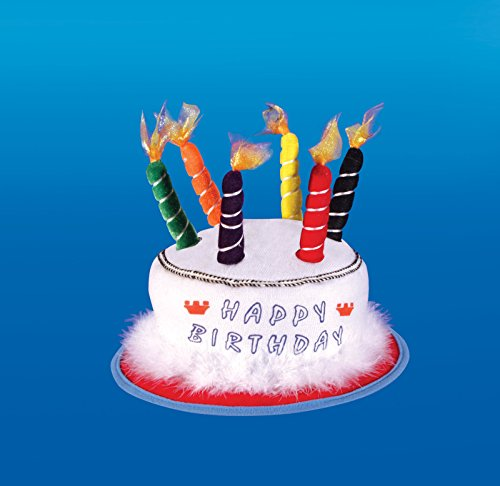 Loftus International Star Power Birthday Candle Party Hat, White, One Size - 1