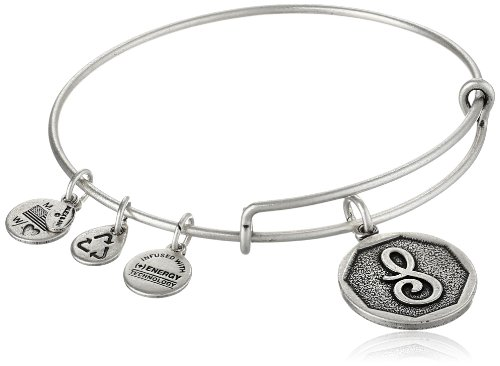 Alex and Ani Initial Expandable Wire Bangle Bracelet, 7.25