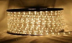 "CBConcept® 120VLR100FT-WW Warm White 100 Feet 110V-120V 2-Wire 1/2"" LED Rope Light, 1.0"" LED Spacing; Christmas Lighting, Indoor / Outdoor rope lighting"