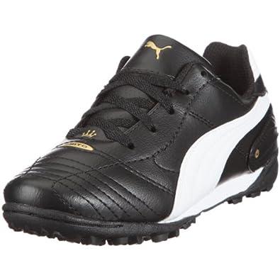 Puma Esito Finale Trainer Jr, Chaussures football junior - Noir/Blanc/Jaune fluo, 33 EU
