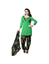 Triveni Womens Crepe Casual Wear Dress Material (Tsstmisk2002 -Green -Free Size)