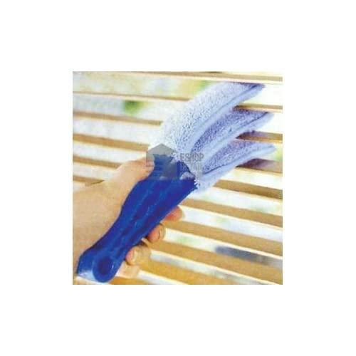 Ashley Housewares Triple Venetian Blind Cleaner - Removable, Hand Washable Microfibre Fabric Duster For Wet Or...