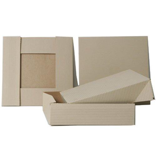 6.5x6.5x1.5 Light Kraft Full Lid Gift Box - Sold individually