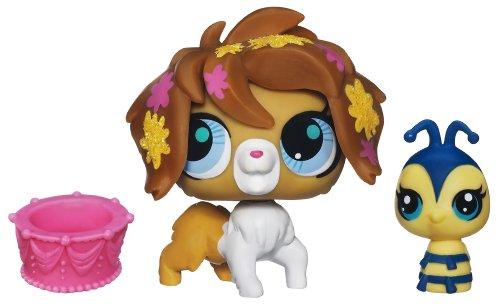 Littlest Pet Shop Sweetest Sheepdog (3124) and Bee (3125)