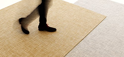 Chilewich Floormat Woven IKat White/Gold 46